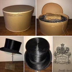 Old hat box and top hat | Hat Manufactory London