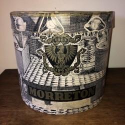 Ancienne boîte à chapeau | MORRETON | Noire et blanche
