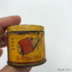 "RARE ""POULE DU POT"" very old small bouillon box KUB"