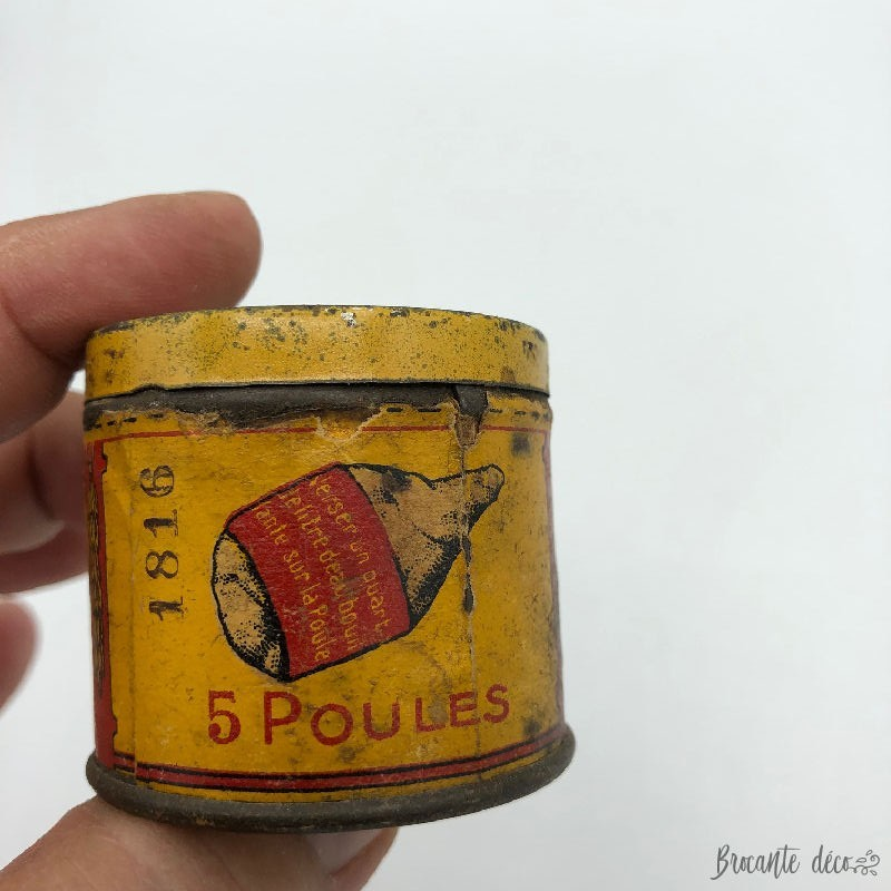 "RARE ""POULE DU POT"" very old small bouillon box KUB"