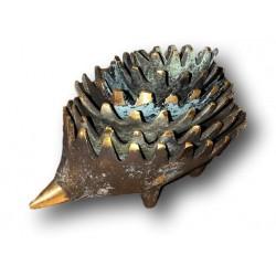 Anciens cendriers gigognes hérissons | En bronze | Style Walter Bosse