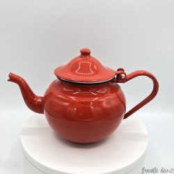Old small red teapot | In enamelled sheet | 0.7 cl