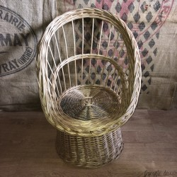 Old small armchair for children | Wicker | Vintage armchair