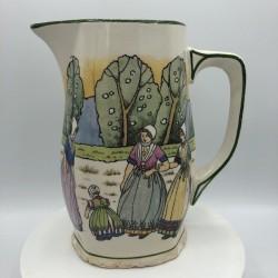 Broc en céramique | Vintage | Décor régional | Czechoslovakia