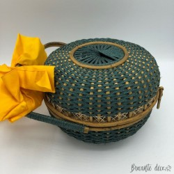 Old round basket | chocolate box, sewing or handbag