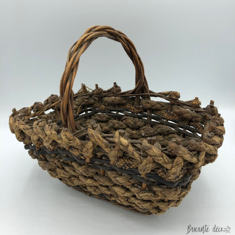 Old basket braided