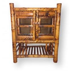 Garde manger vintage en bambou | Ancien grand garde manger
