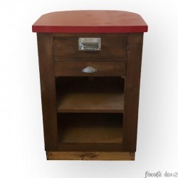 Old 50s cash desk | Red and white | Anti-theft cash drawer
