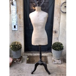 old mannequin for women | Blackened wood