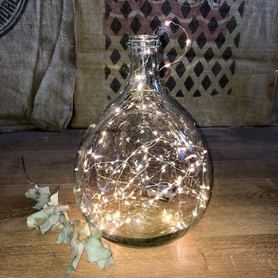 Old Dame Jeanne bottle | Transparent | Blown glass | Vintage decor