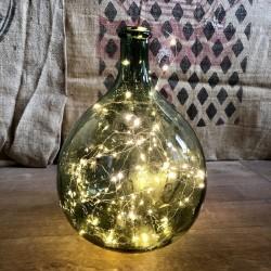 Old green Dame Jeanne bottle | 6 Liters | Vintage decor