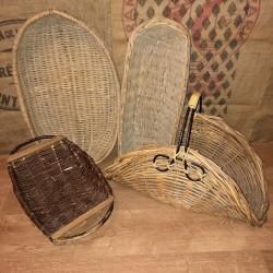 Lot of 4 large wicker baskets | Large old baskets