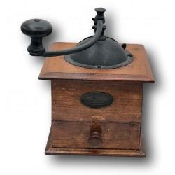 Old wooden coffee grinder | Peugeot Frères | Valentigney Doubs Modèle déposé
