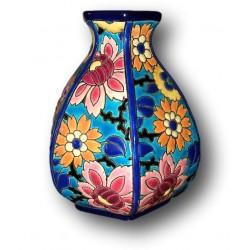 Ancien vase en émaux de Longwy   France   Hexagonale   Art déco