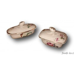 Set of 2 small porcelain toy boxes | Toiletries | Old toy