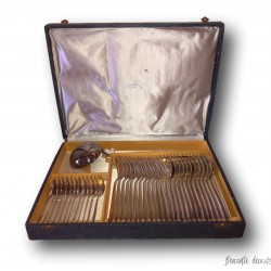 Old silver-plated cutlery box | Ravinet d'Enfert | 37 pieces