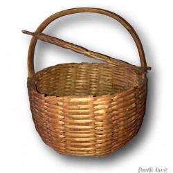 Old round basket with lid | Round wicker basket