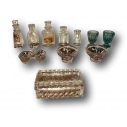 Ancienne dînette | Minis pots à confiture de  dînette | Collection | Jouet ancien