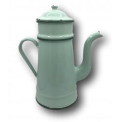 Old enamelled tin coffee maker | Light green | Enamel coffee maker