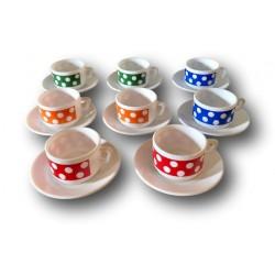 Vintage coffee service | Arcopal Polka | Polka dot coffee service