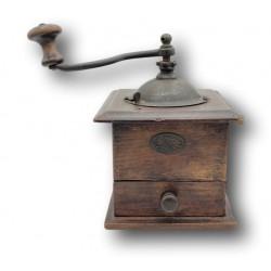 Ancien moulin à café en bois | Japy Frères | Collection