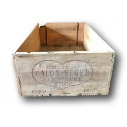 Old wooden wine crate   Chateau Calon Segur Estephe 1977