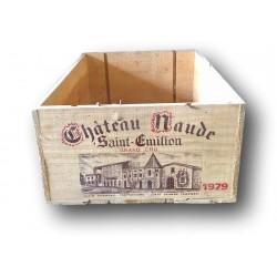 Ancienne caisse de vin en bois   Château Naude Saint Émilion 1979
