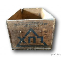Old wooden crate   Old advertising box   LUX