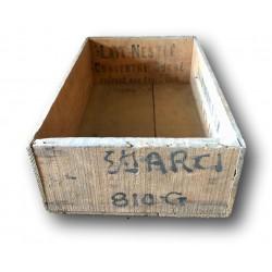 Ancienne caisse vintage en bois   Publicitaire   Lait Nestlé