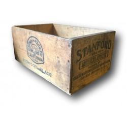 Ancienne caisse en bois vintage   Stanford California U.S.A