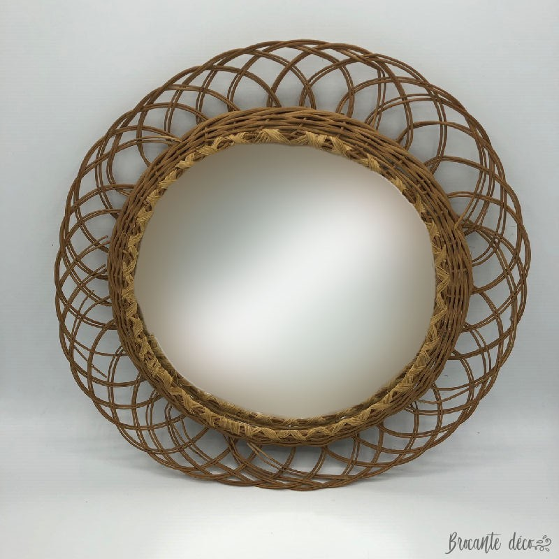 Sun mirror | Vintage | Wicker
