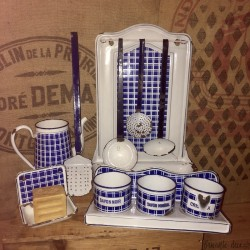 Rare and old set in enamelled sheet BB | Model 18195