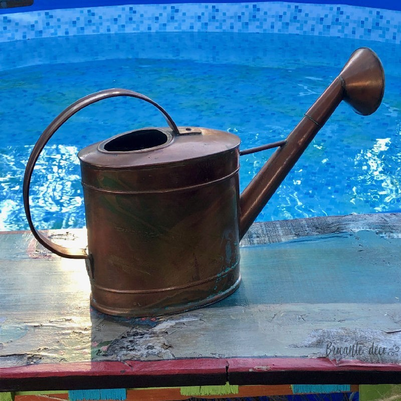 Small copper watering can