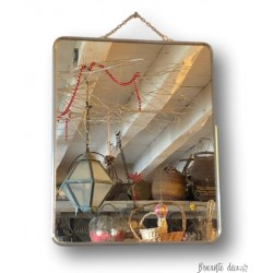 Old barber's mirror | Simple mirror with chain