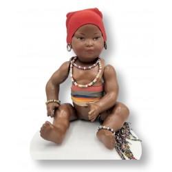 "Très rare Petitcollin de type ""indigène""   Ancienne poupée Petitcollin en celluloid"
