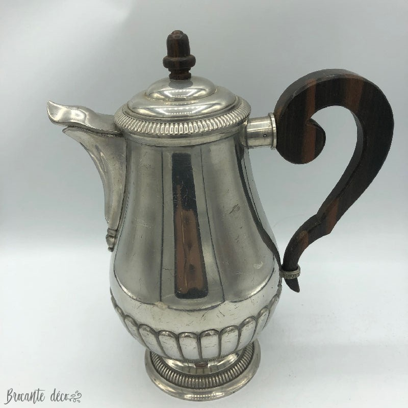 Antique silver pewter teapot