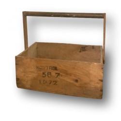 Ancienne caisse à outils   En bois recyclé