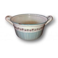 Old cooking pot BB garland of roses   Enamelled sheet BB 17551