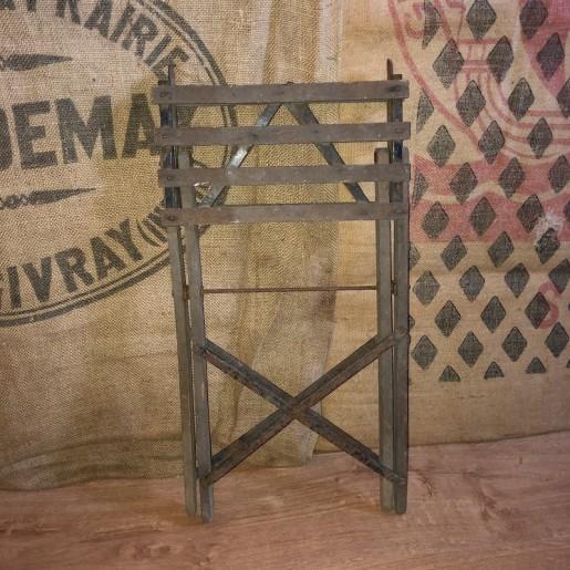 Old fisherman's wooden folding stool   Fishing stool