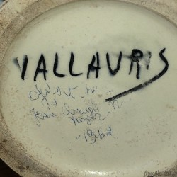 Old large vase signed Vallauris | Vallauris vase 1960