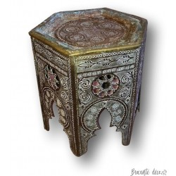 Small side coffee table or pot holder | Oriental brass