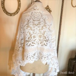 old bed sheet with lace