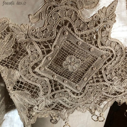 Lot of old silk and lace curtains