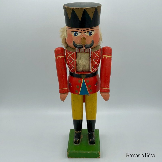 Casse noisette ancien - Soldat figurine en bois
