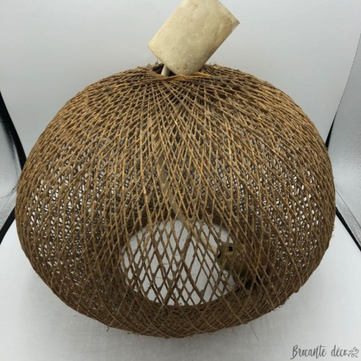 Suspension boule scandinave en corde - 100 % vintage