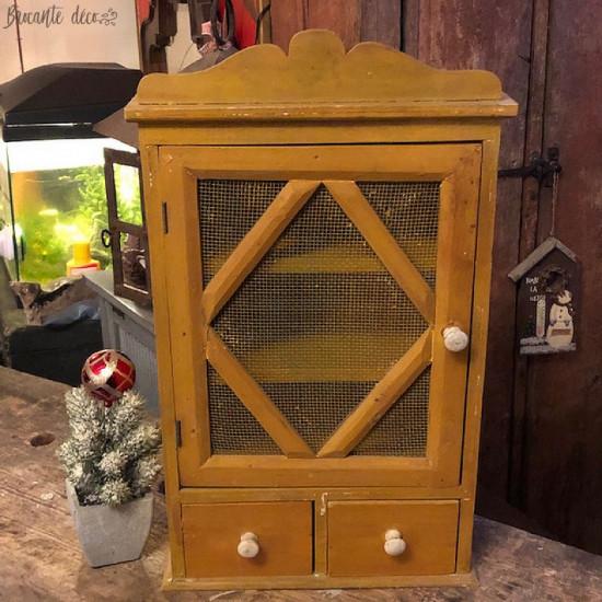 Old little wardrobe yellow...