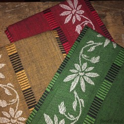 Set of 3 vintage tea towels in pure cotton