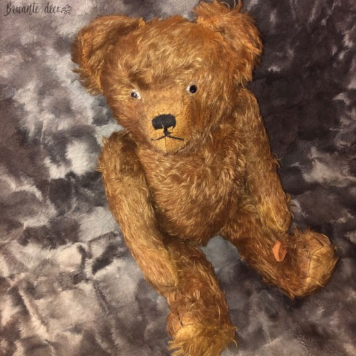 Ancien ours crieur en peluche - Yeux en verre