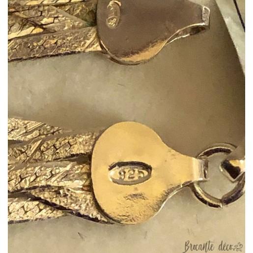 Collier et bracelet assortis en argent dans coffret