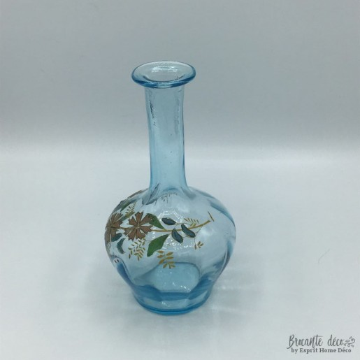 Enamelled glass decanter